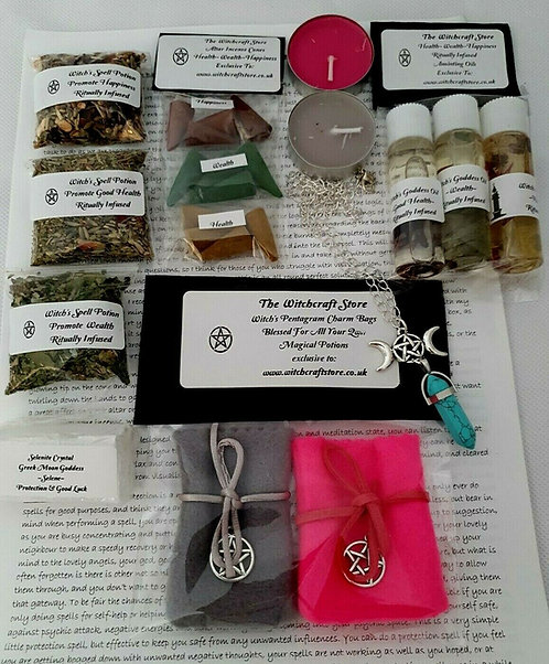 Witch's Survival Altar Kit Health Wealth & Happiness