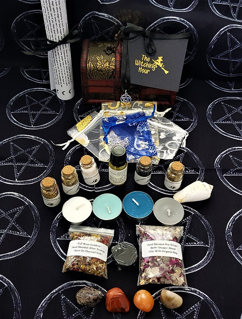 Witches Altar Chest ~ Spell Kits ~ Crystals ~ Incense ~ Goddess Candles ~ Potion