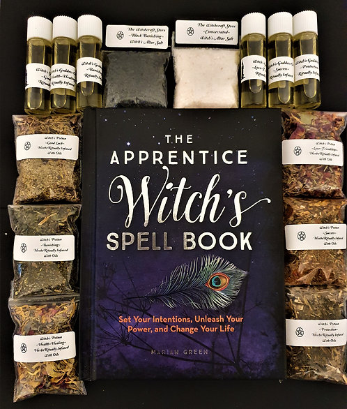 The Apprentice Witch's Spell Book ~ Altar Oils ~ Spell Potions Starter Kit