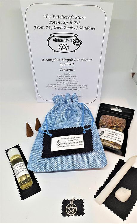Witches Complete Spell Kit ~ Make A Wish~ Potion, Oil, Talisman, Crystal