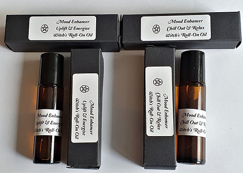 Witches Premium Roll-On Mood Enhancing Oils '2 To Choose From'