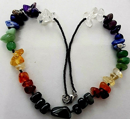 Chakra Crystal Heavy Gemstone Necklace 'FREE GIFT BAG INCLUDED'