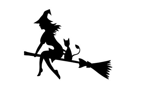 Witches Vinyl Decal Stickers Pk of 6 For Your Chalice or Wine Glass