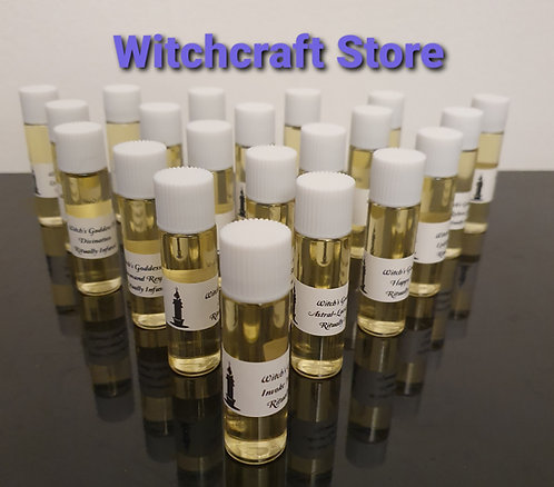 Complete Set Of 21 Bottles Of Witches Anointing Altar Oils Starter Kit