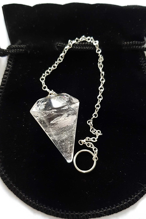 Clear Crystal Quartz Rock ~ Dowsing Pendulum ~ Jumbo Size
