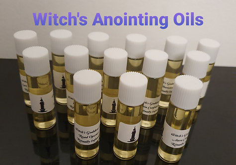 Large Set Of 14 Bottles Of Witches Anointing Altar Oils Starter Kit