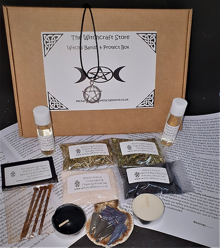 Witches Starter Kit ~ Banish & Protect Box ~ Spell Potions Oils ~ Altar S