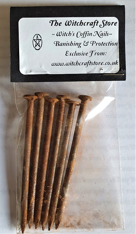 """6 x Witches Coffin Nails 3"""" For Protection and Banishing Spells"""