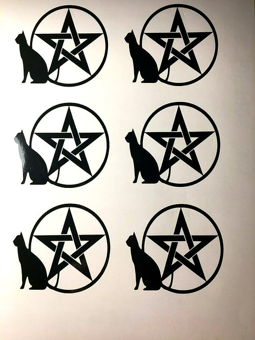Witches Vinyl Decal Stickers Pk of 8 For Your Chalice or Wine Glass