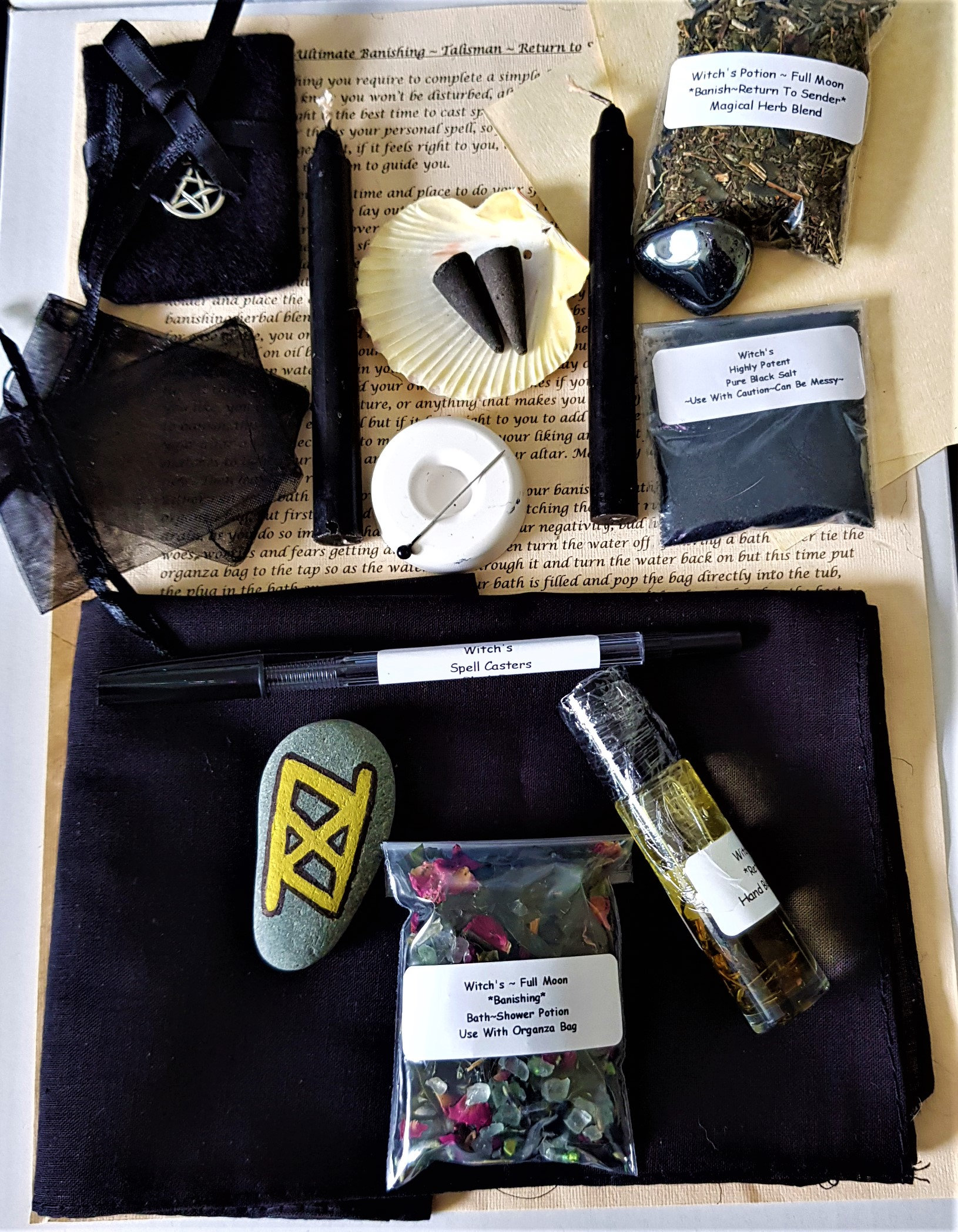 Complete Ultimate RETURN TO SENDER CURSE HEX Spell With Altar Cloth And  Talisman | witchcraftstore-uk