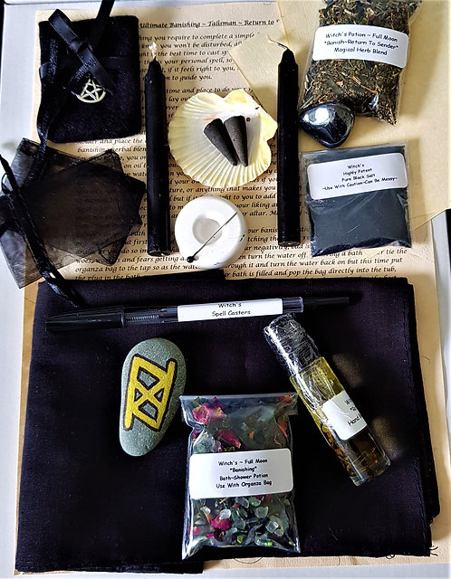 Complete Ultimate RETURN TO SENDER CURSE HEX Spell With Altar Cloth And Talisman