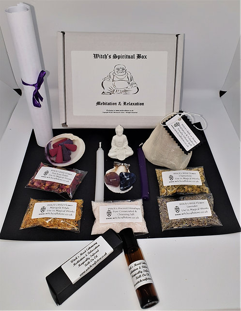 Witches Spiritual Buddha Starter Box ~ Spells, Oils Herbs & More