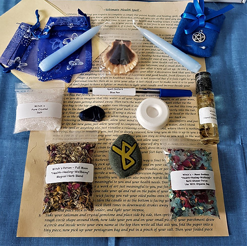 Complete Ultimate HEALTH HEALING Spell With Altar Cloth And Talisman