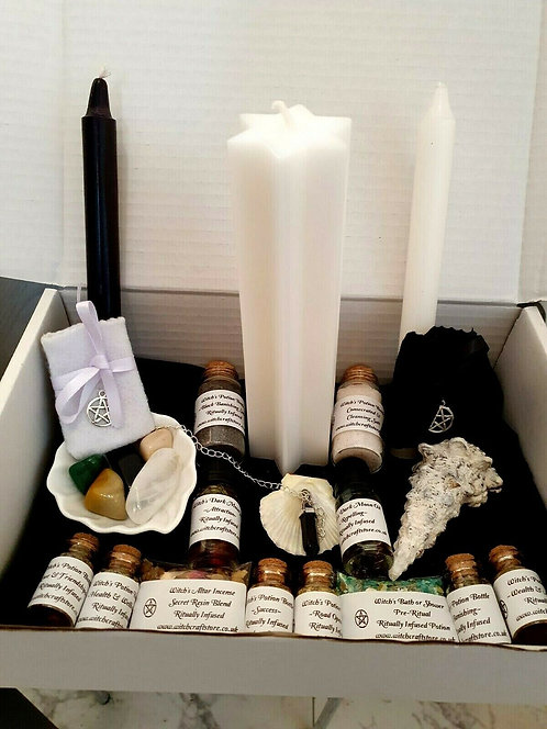 Pure Magick ~ Witches Gift Set ~ Spell Potions ~ Altar Supplies