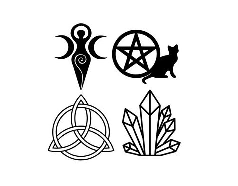 Witches Mixed Vinyl Decal Stickers Pk of 4 For Your Chalice or Wine Glas