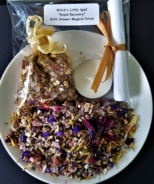 Witch's Little Spell kit~ Rapid Recovery ~ Bath ~ Shower ~ Health and Healing