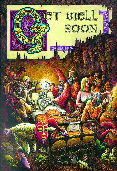 Greetings Card 'Get Well Soon' By Artist Pete Loveday