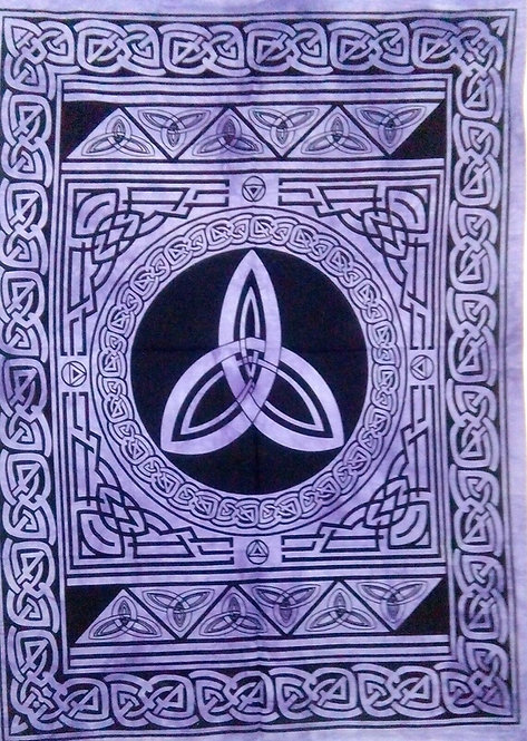 Large Altar Cloth ~ Triquetra Purple Celtic Design