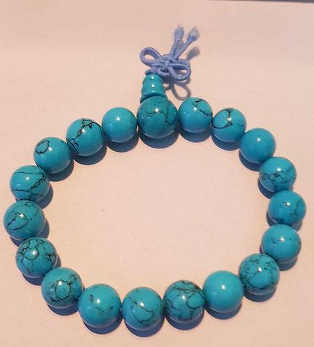 Turquoise Power Bracelet ~ Unisex ~ Gemstone Stretch ~ Free Gift Bag