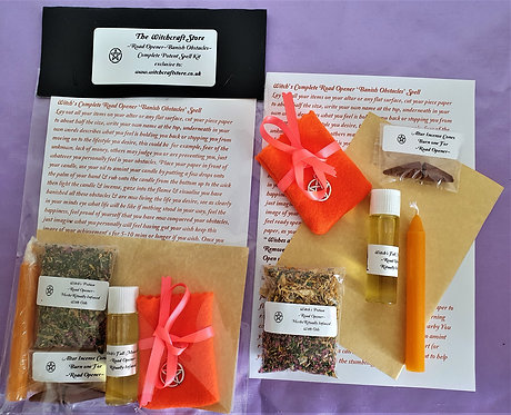 Witch's Potent Spell  ~ Complete Road Opener ~ Banish Obstacles Kit