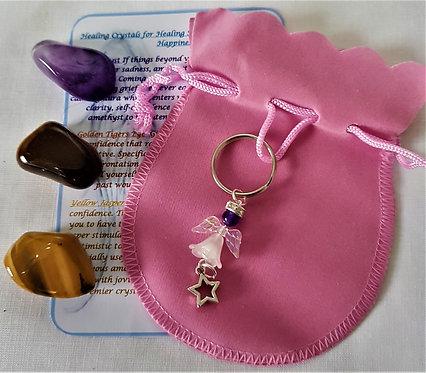 Crystal Angel Gemstones Gift Set ~ Helps With Feelings of Sadness
