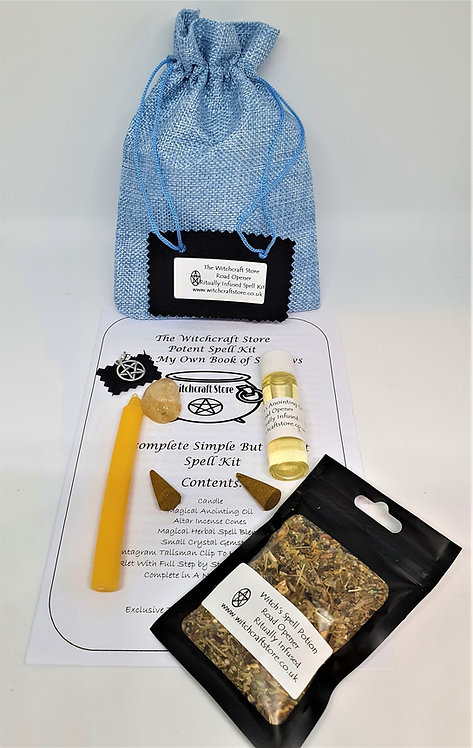 Witches Complete Spell Kit ~ Road Opener ~ Potion, Oil, Talisman, Crystal