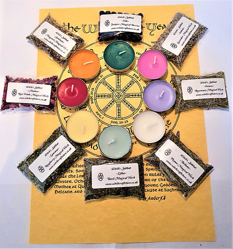 Witches Wheel of The Year  Sabbats Gift Box ~ Wicca Starter Kit