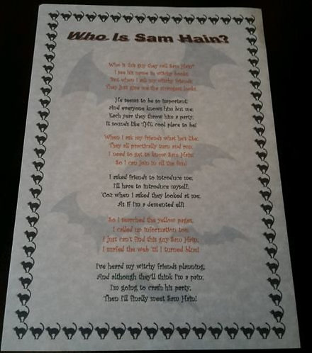 Parchment Pagan Poster **SAMHAIN** A4