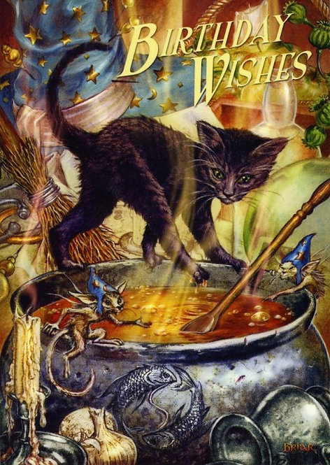 Birthday Card 'Cauldron Capers' By Fantasy Artist Briar