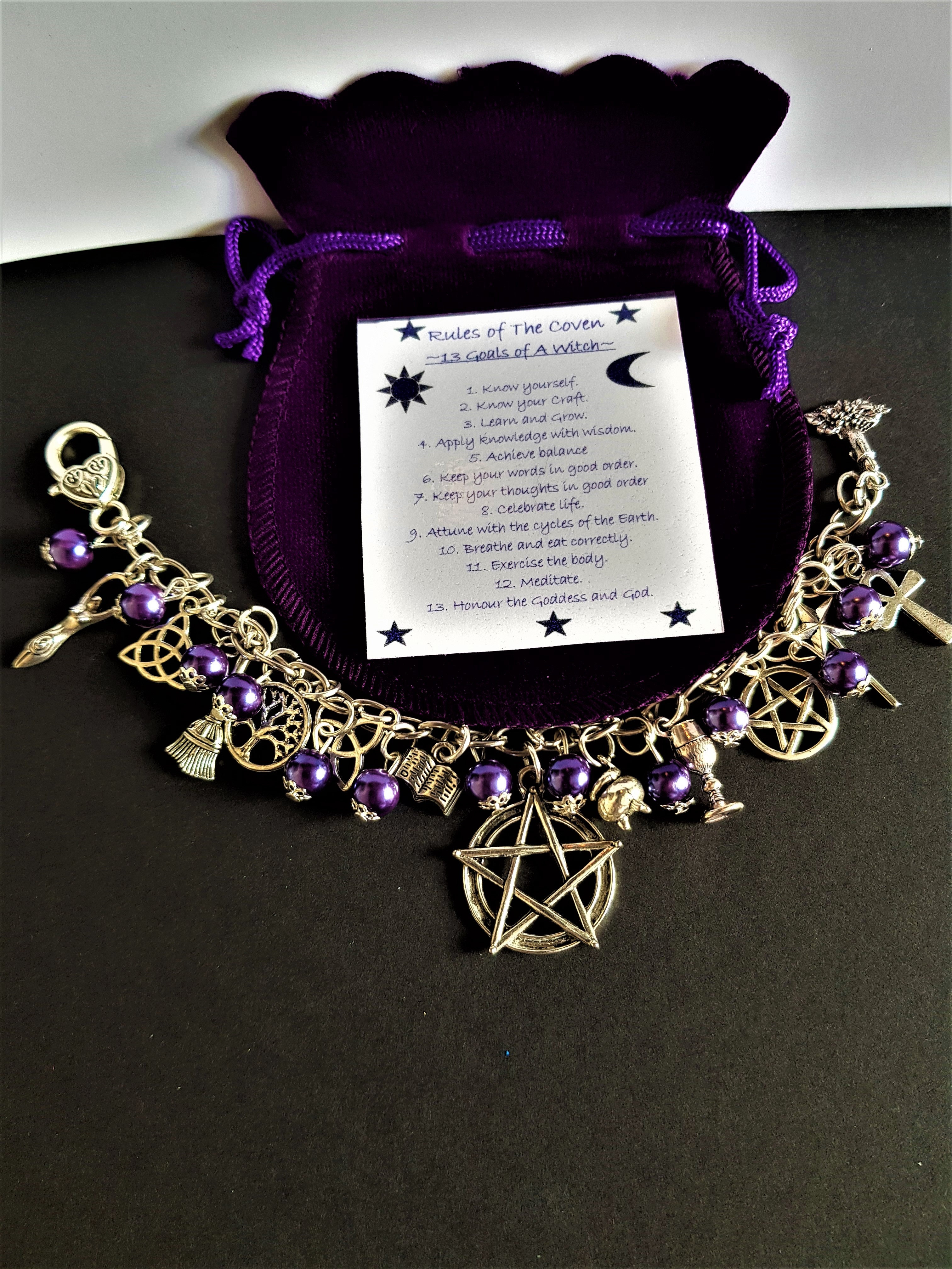 e5d299da050b8 Witch's Coven ~ Charm Bracelet ~ Symbolic Coven Rules | witchcraftstore-uk