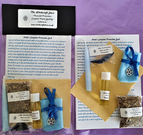 Witch's Potent Spell  ~ Protection ~ Altar Ritual Kit