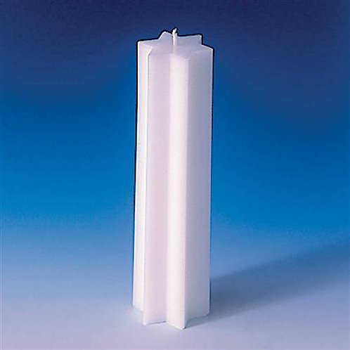 Extra Large Pure White Altar Candle ~ Star Shape