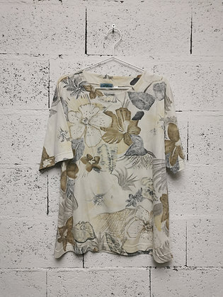 T-shirt avec motifs floraux