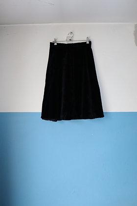 Jupe en velours noir