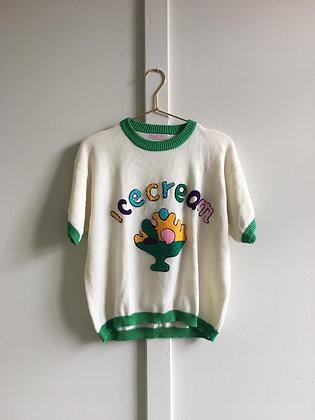 T-shirt tricot à dessin Ice-cream