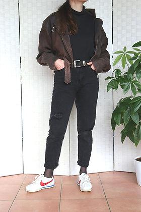 Perfecto en cuir style aviateur