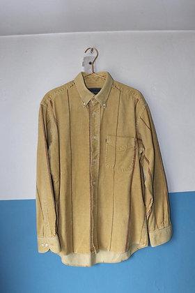 Chemise jaune velours côtelé