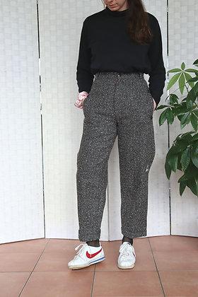 Pantalon en laine coupe boyfriend