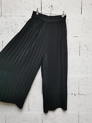 Pantalon fluide à plis plats
