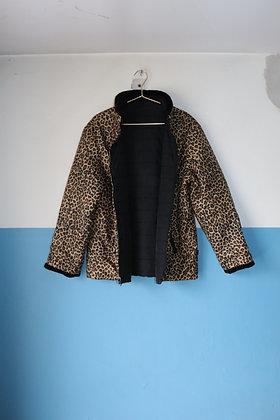 Veste réversible léopard/noir