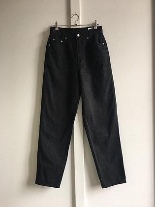 Jeans Mac noir taille haute