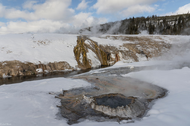 Leah Meade - Geyser Pool in Yellowstone.