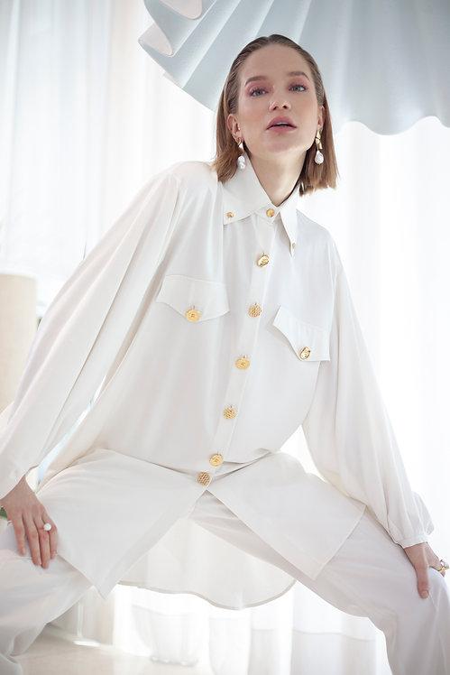 ALEKSANDAR ZABUNOVIC Long Silk Shirt