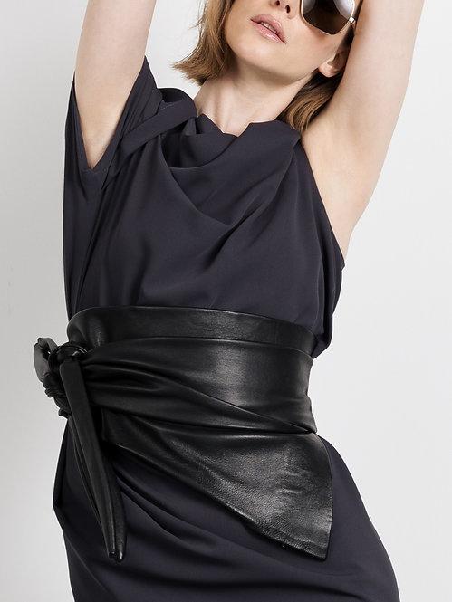 SESTRES black leather belt