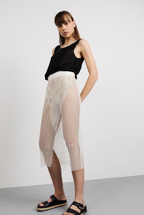 JOVANA MARKOVIC open-knit skirt