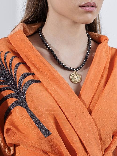 COSO DESIGN black pearls necklace
