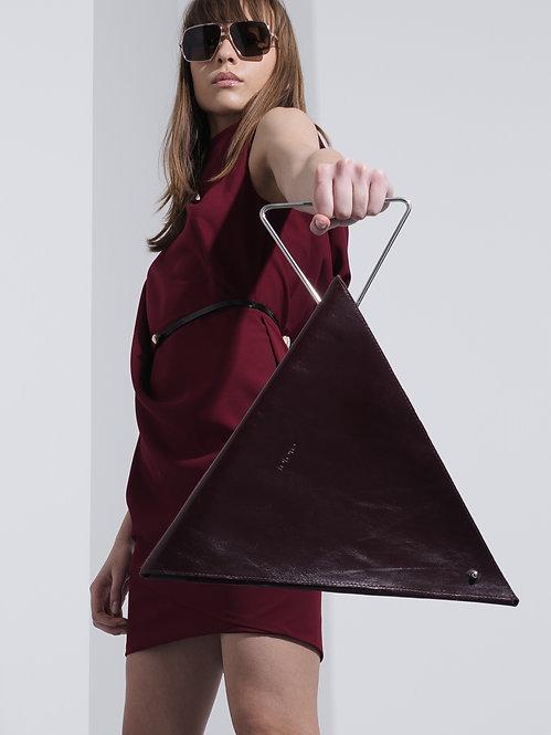 KOKORO Origami Triangle bag bordeaux