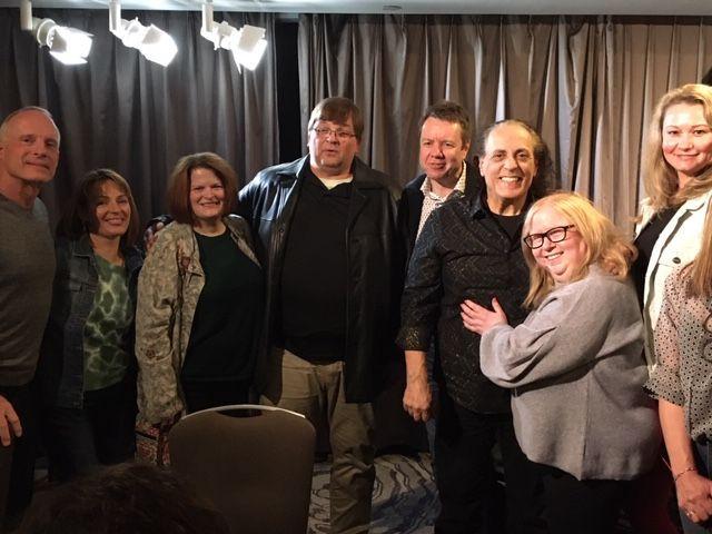 Ron, Una, Lee, George, Nigel, Laurie & Julia