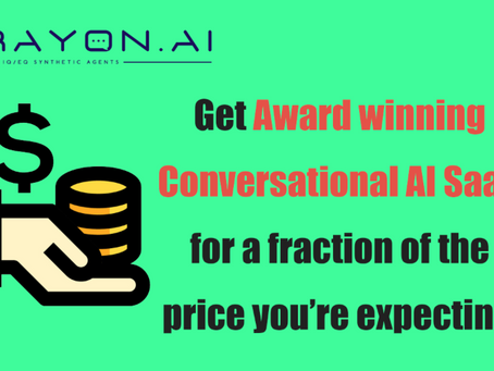 Award winning Conversational AI SaaS for less!