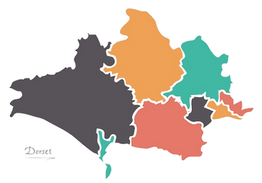 dorset-england-map-with-states-and-moder